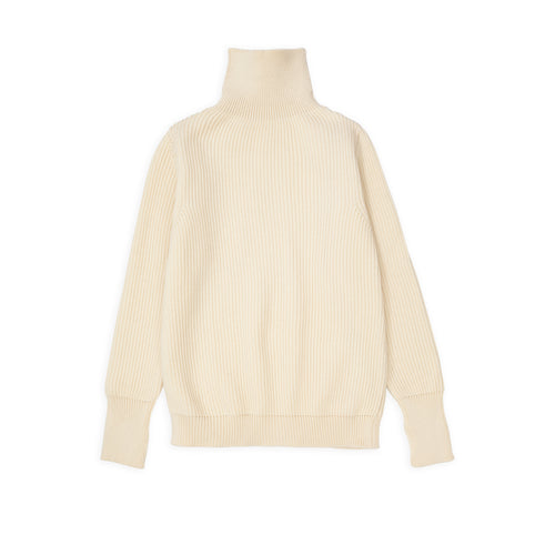 Navy Turtleneck - Off-White