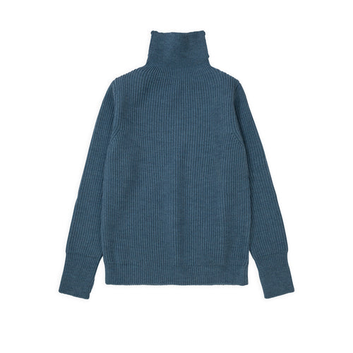 Navy Turtleneck - Light Indigo