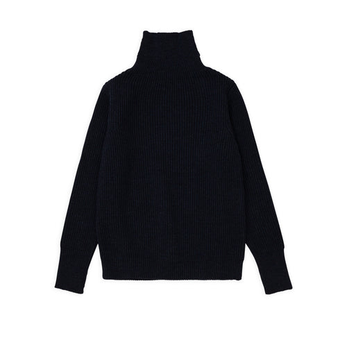 Navy Turtleneck - Dark Indigo