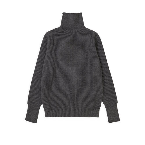 ANDERSEN-ANDERSEN Navy Turtleneck - Grey