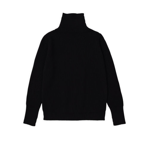 Navy Turtleneck - Black
