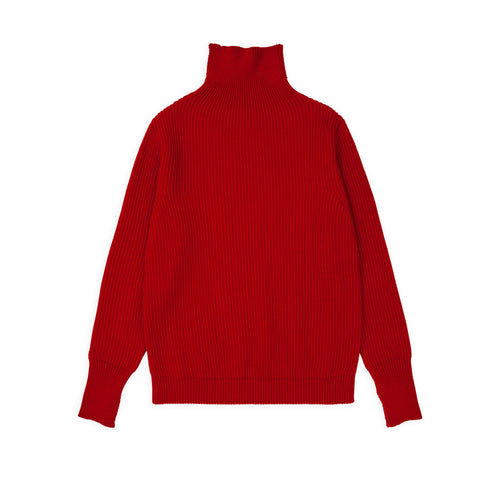 ANDERSEN-ANDERSEN Navy Turtleneck - Red