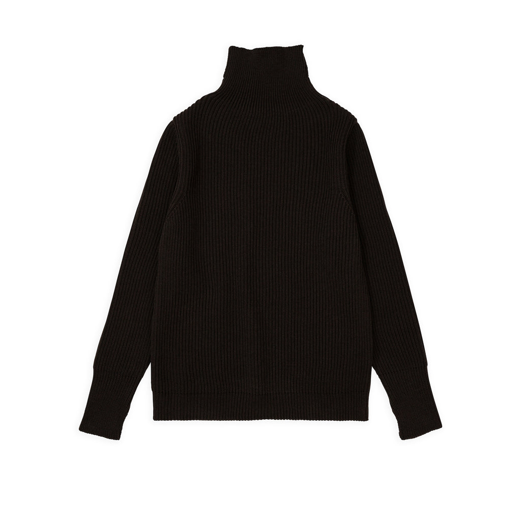 Navy Turtleneck - Hunting Green