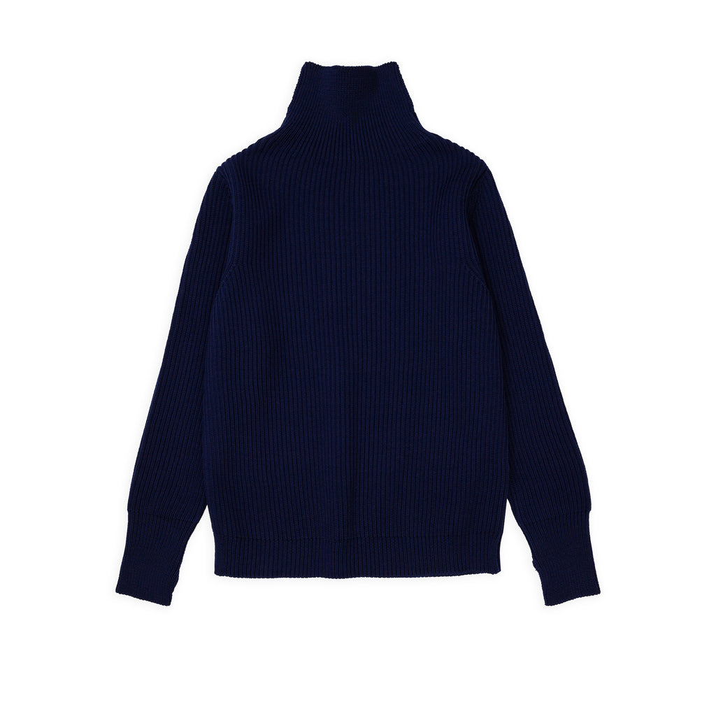 ANDERSEN-ANDERSEN Navy Turtleneck - Royal Blue