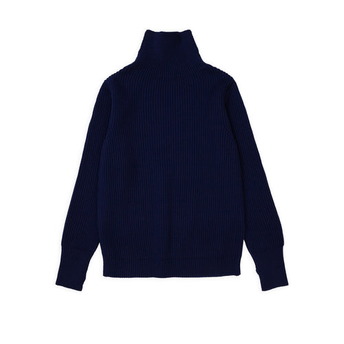 Navy Turtleneck - Royal Blue