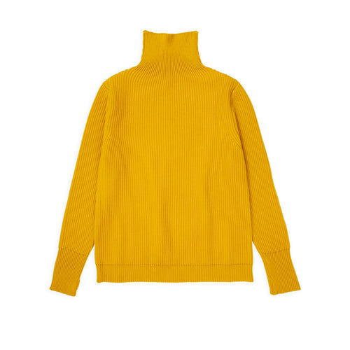 ANDERSEN-ANDERSEN Navy Turtleneck - Yellow