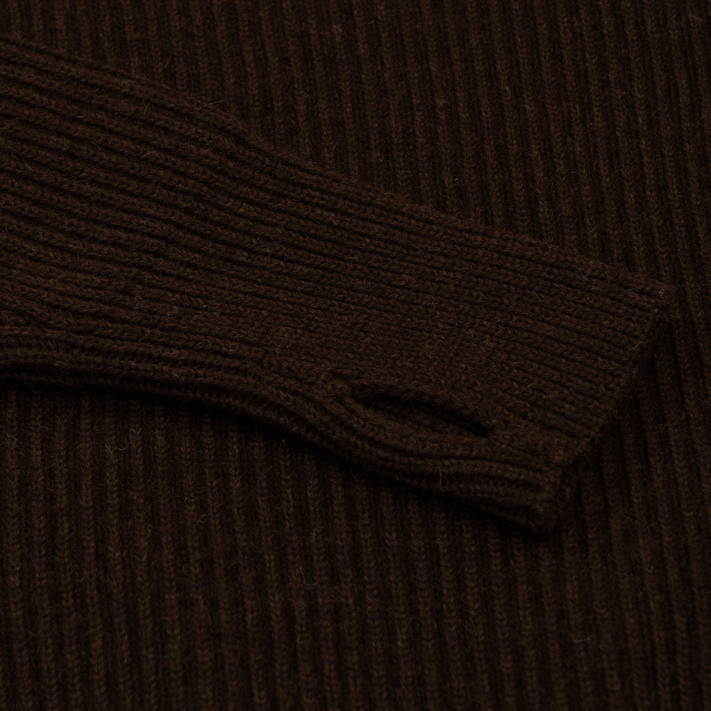 Navy Full-Zip Pockets - Natural Brown