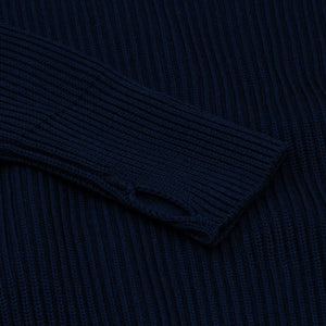 Navy Full-Zip - Royal Blue