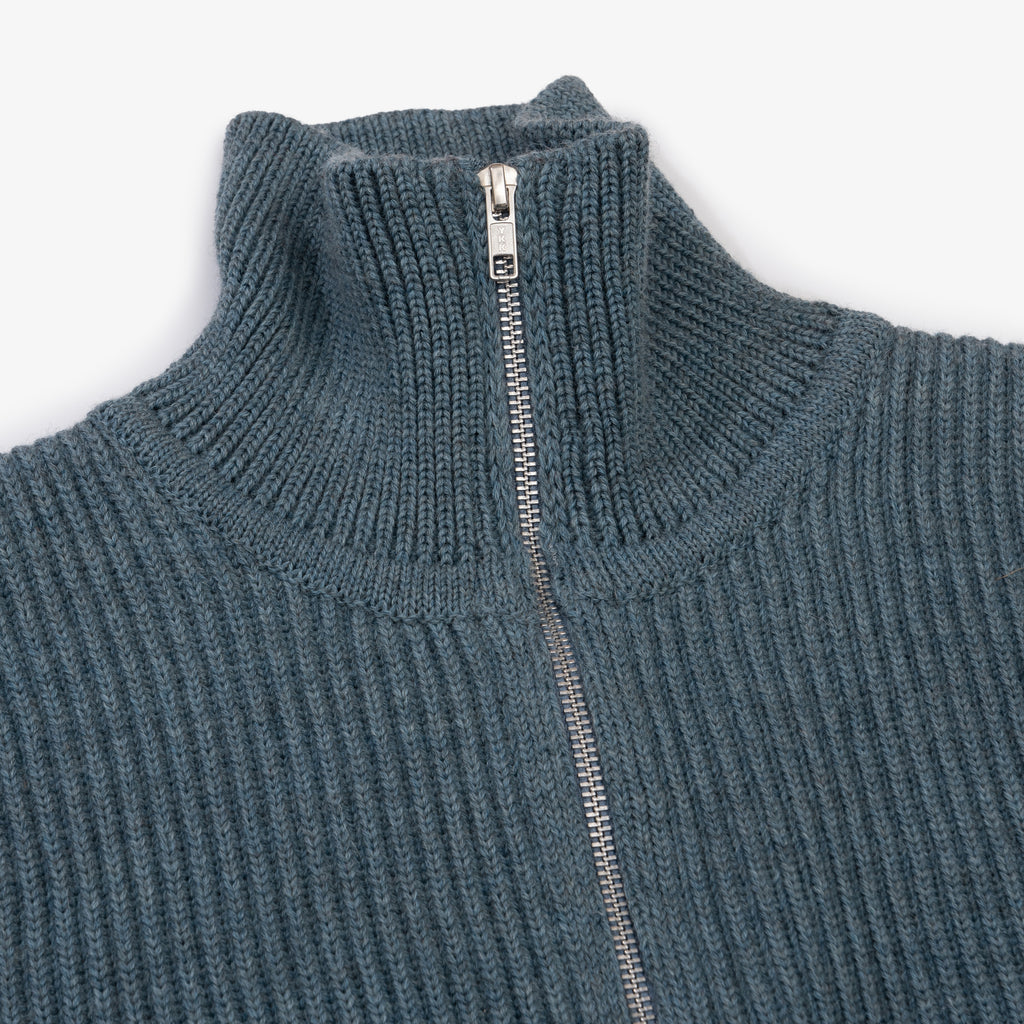 Navy Full-Zip - Light Indigo