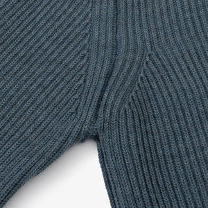 ANDERSEN-ANDERSEN Navy Half Zip Pockets - Light Indigo