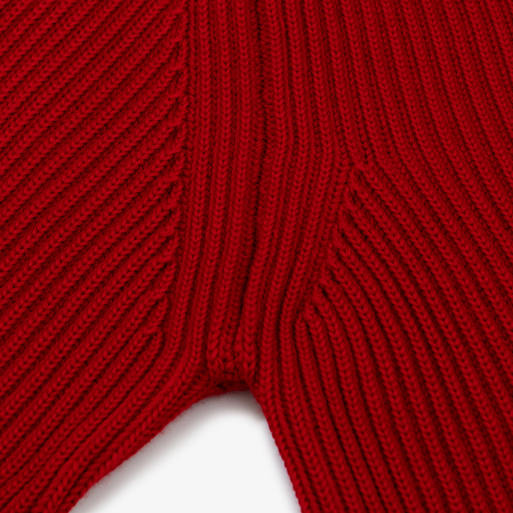 Navy Turtleneck - Red