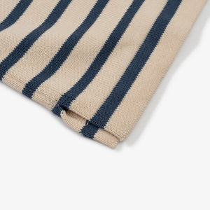 ANDERSEN-ANDERSEN T Shirt - Raw Cotton ground Petroleum stripe