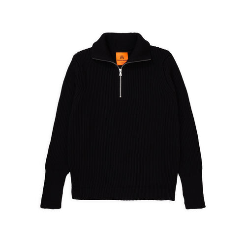 Navy Half-Zip - Black