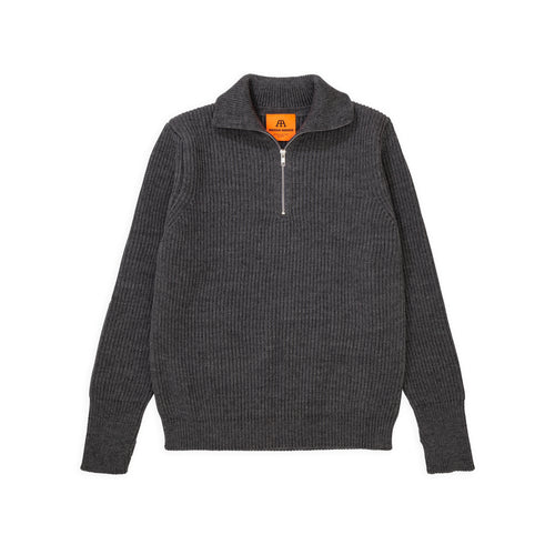 Navy Half-Zip - Grey