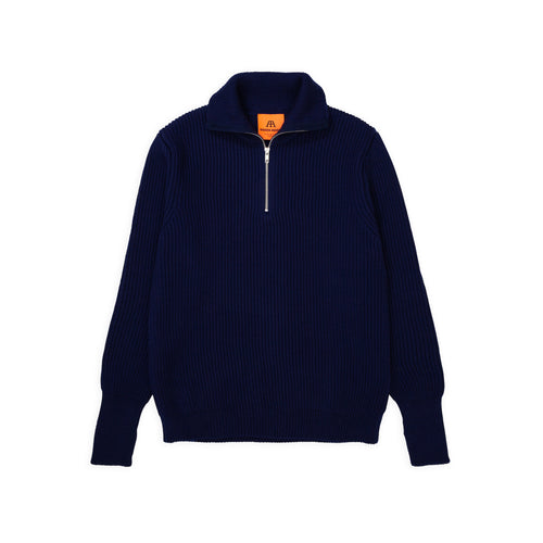 Navy Half-Zip - Royal Blue