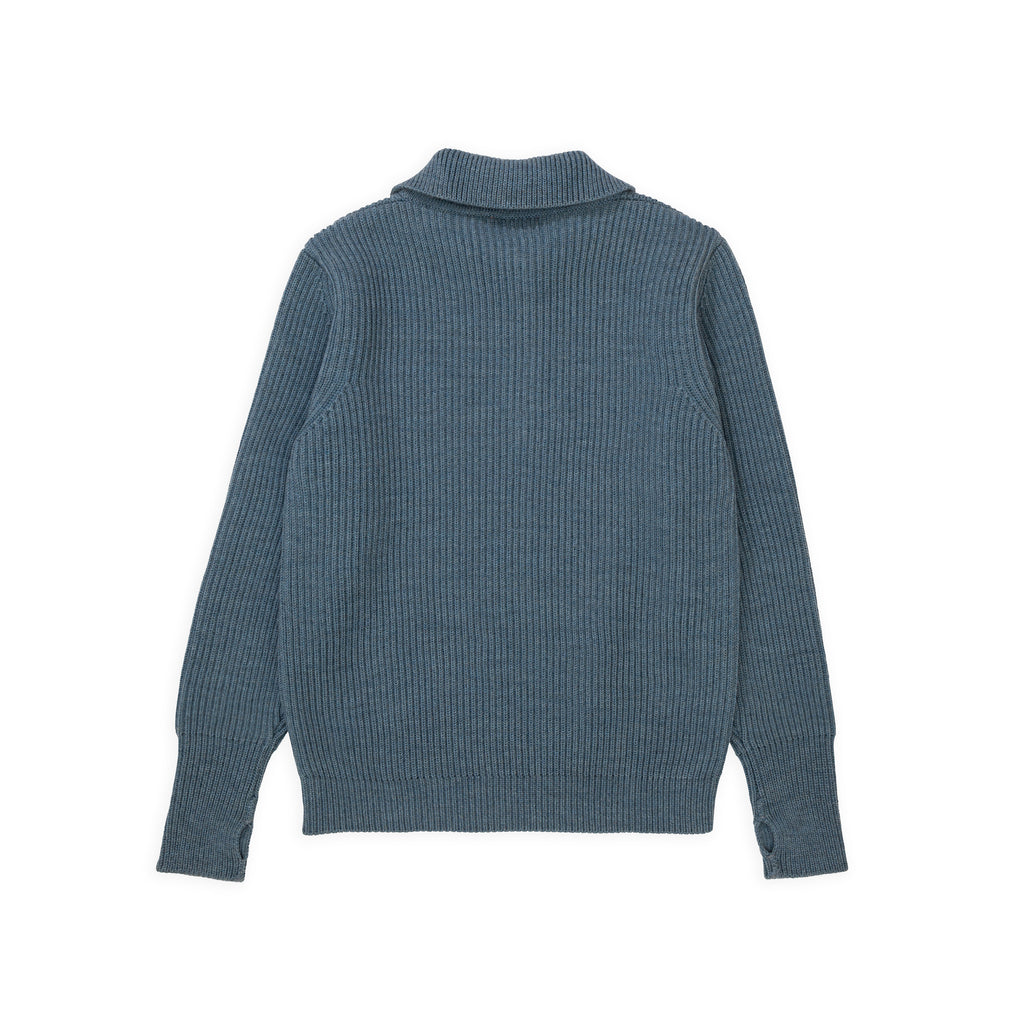 Navy Half-Zip - Light Indigo
