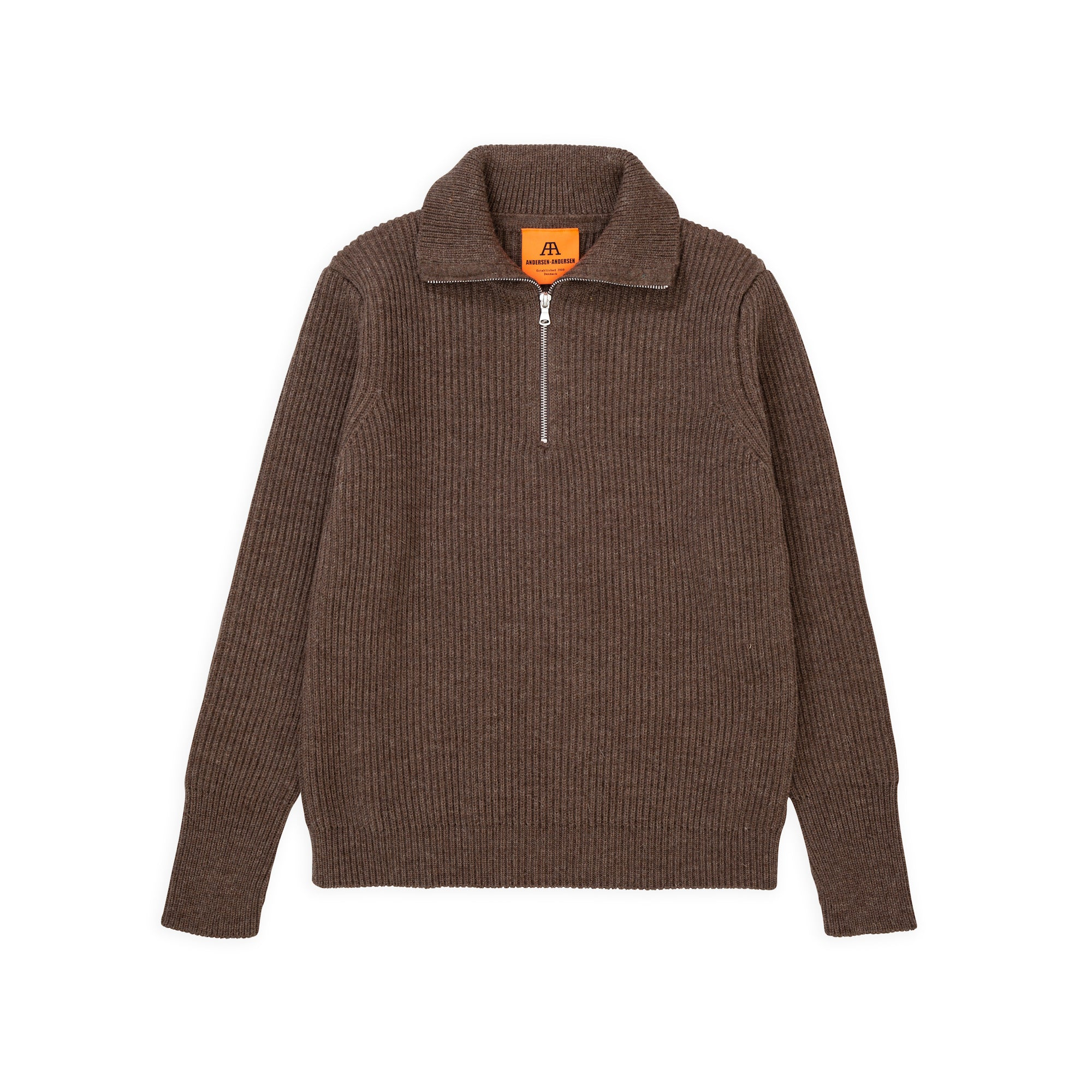Navy Half-Zip - Natural Taupe