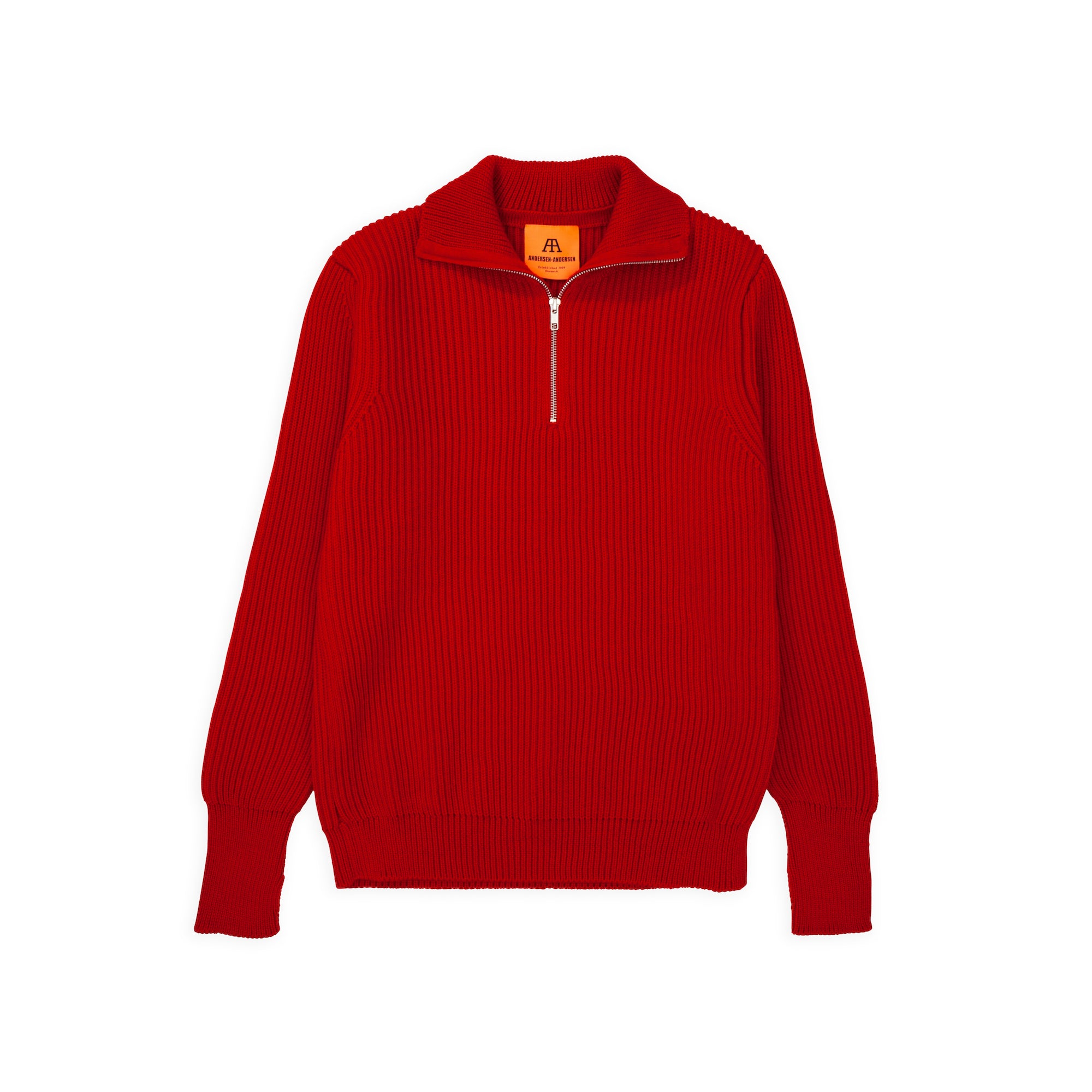 Navy Half-Zip - Red