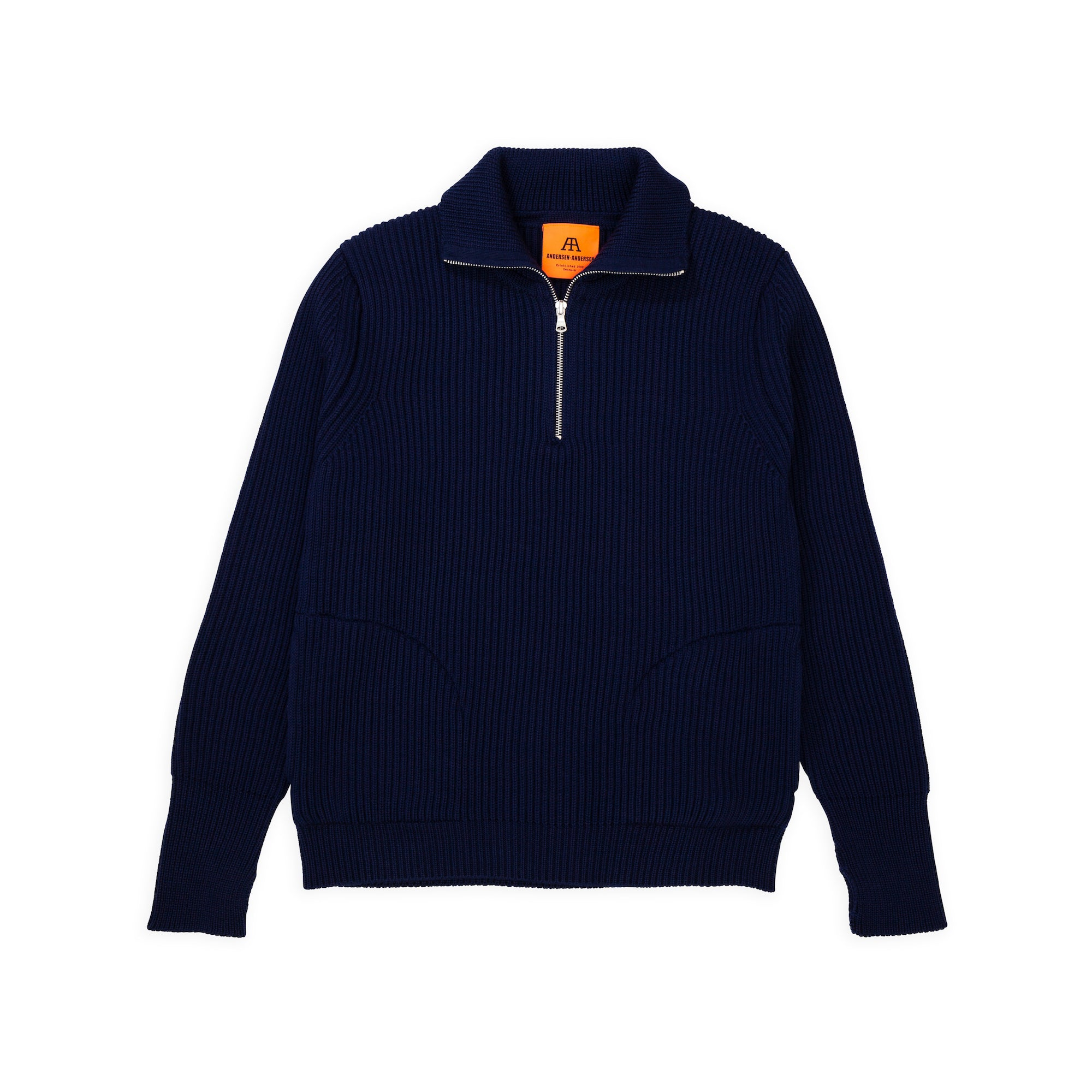 Navy Half-Zip Pockets - Royal Blue