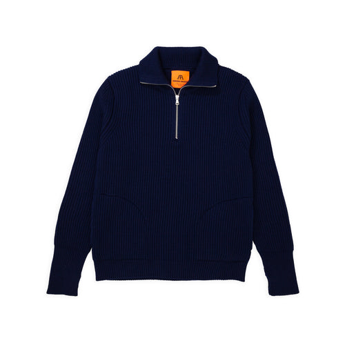 ANDERSEN-ANDERSEN Navy Half Zip Pockets - Royal Blue