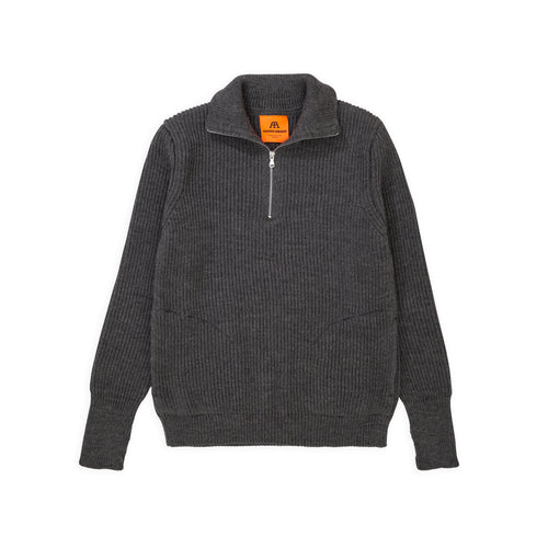ANDERSEN-ANDERSEN Navy Half Zip Pockets - Grey