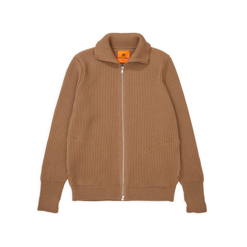 Navy Full-Zip Pockets - Camel