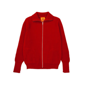 Navy Full-Zip Pockets - Red