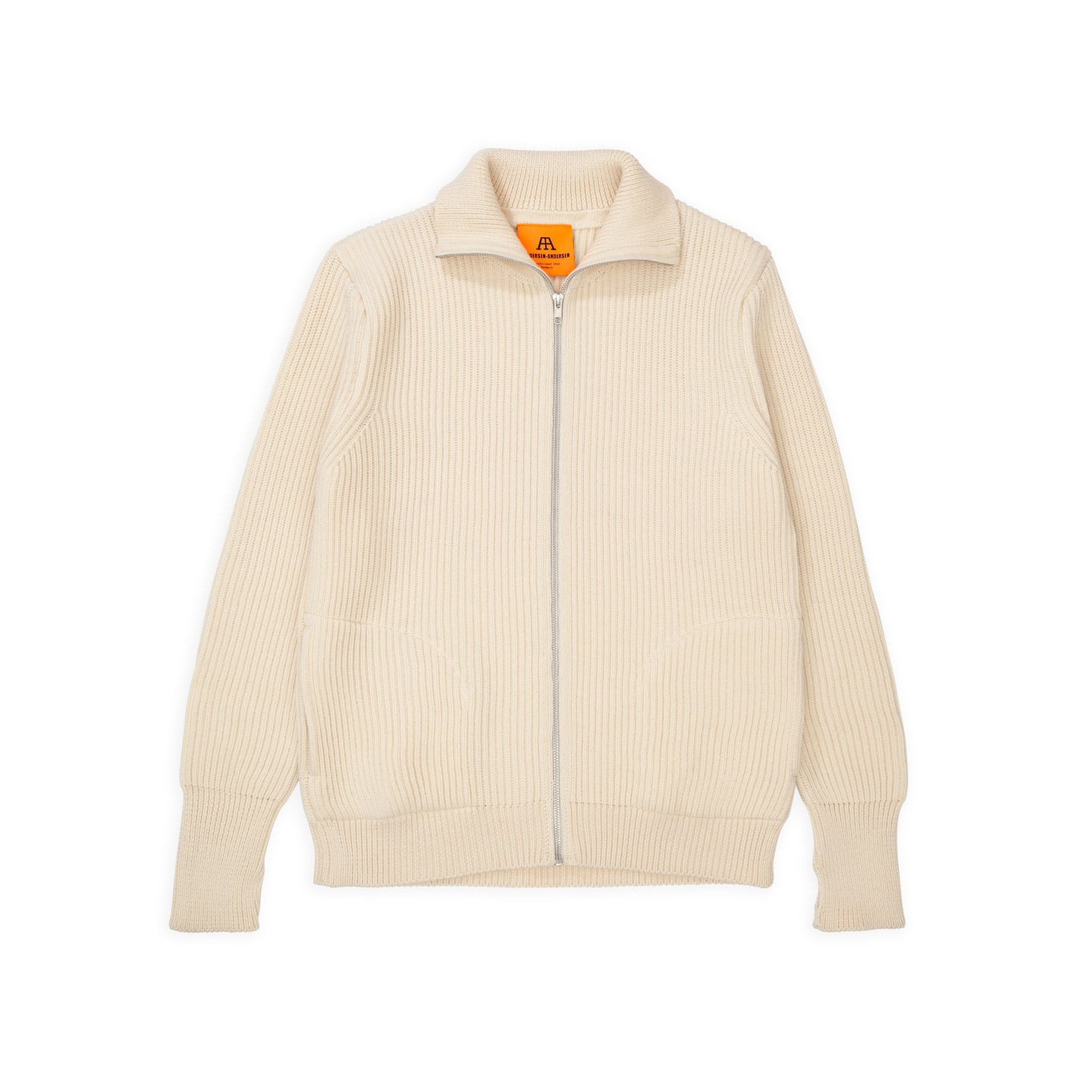 ANDERSEN-ANDERSEN Navy Full Zip pockets - Off White