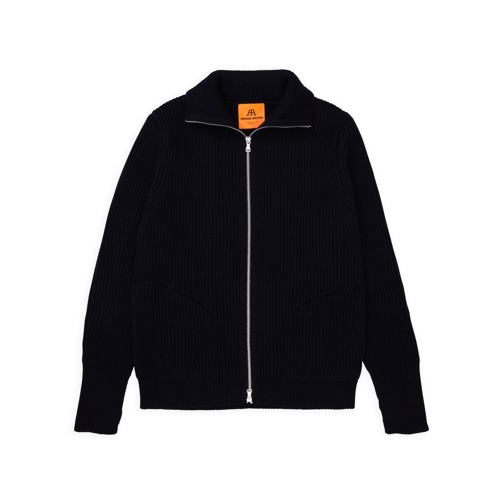 ANDERSEN-ANDERSEN Navy Full Zip pockets - Black