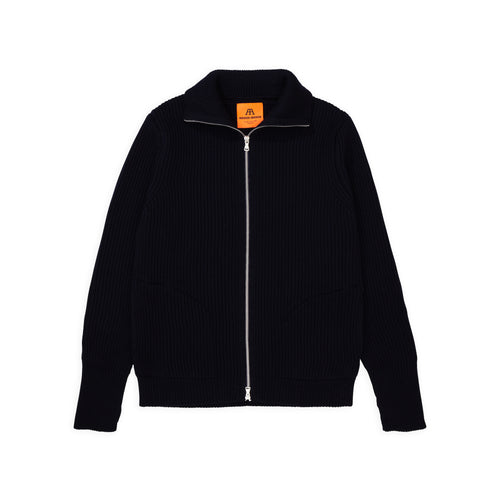 Navy Full-Zip Pockets - Black