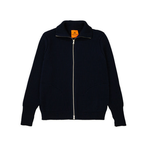 Navy Full-Zip Pockets - Navy Blue