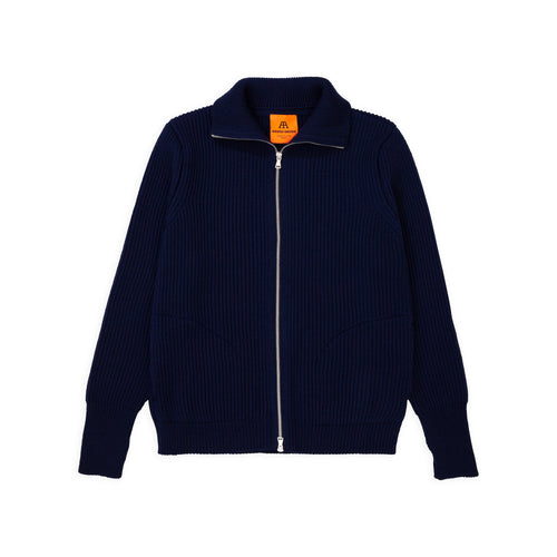 Navy Full-Zip Pockets - Royal Blue