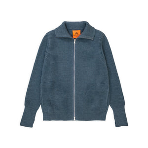 Navy Full-Zip Pockets - Light Indigo