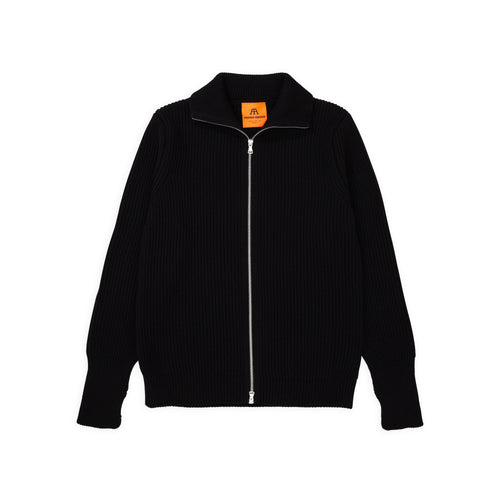 Navy Full-Zip - Black
