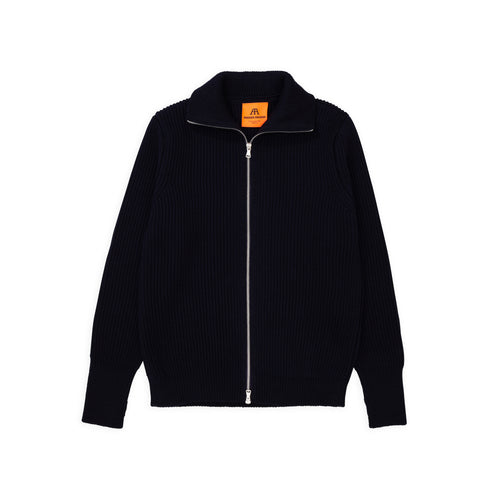 ANDERSEN-ANDERSEN Navy Full Zip - Navy Blue