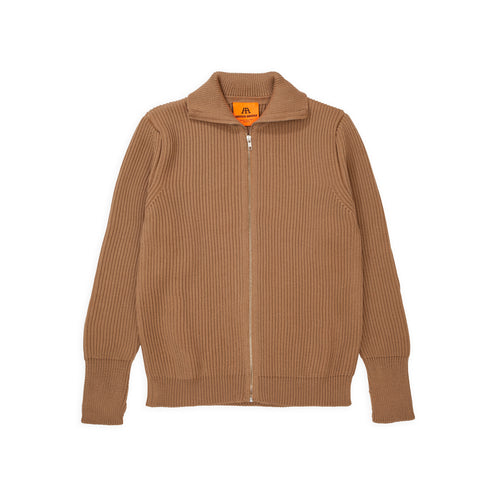 Navy Full-Zip - Camel