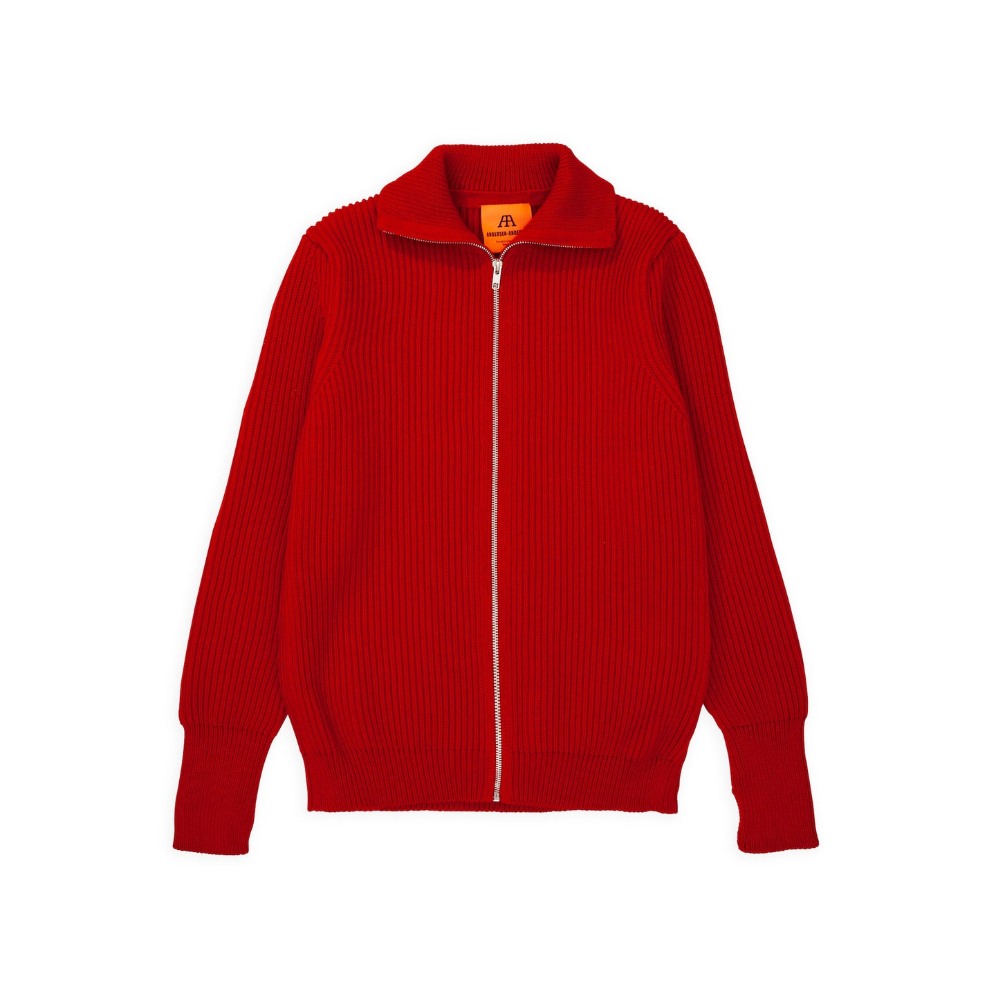 Navy Full-Zip - Red