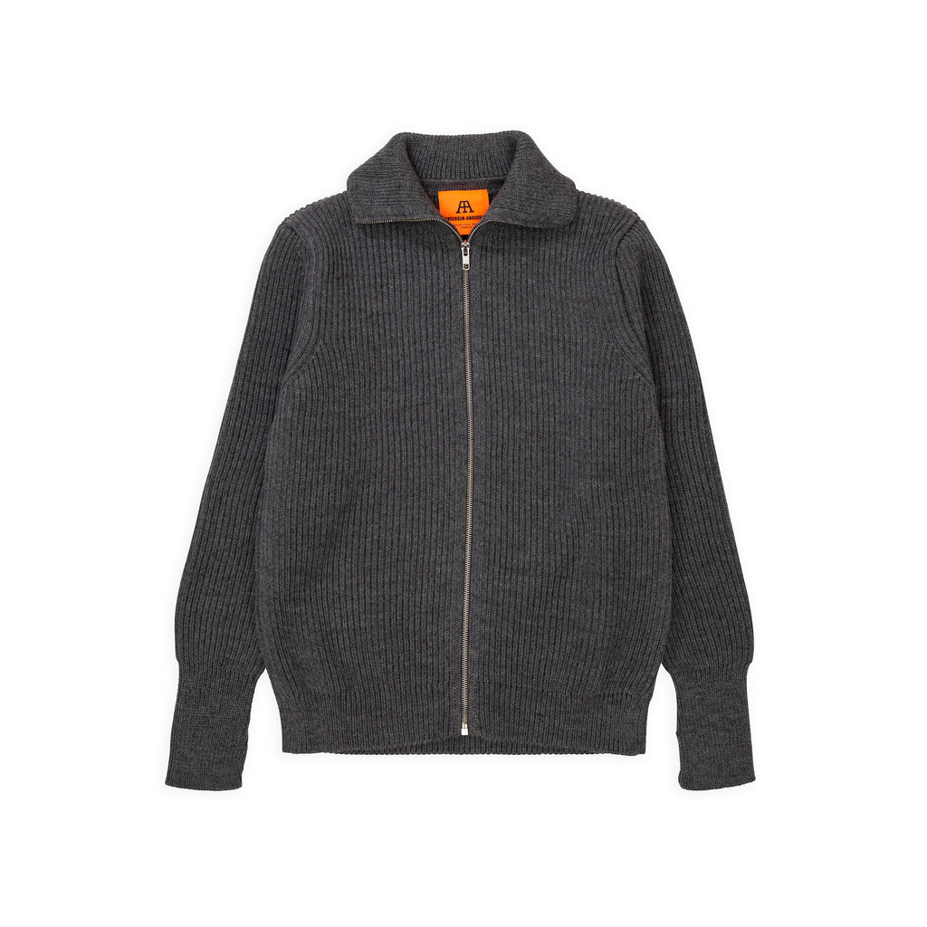 ANDERSEN-ANDERSEN Navy Full Zip - Grey