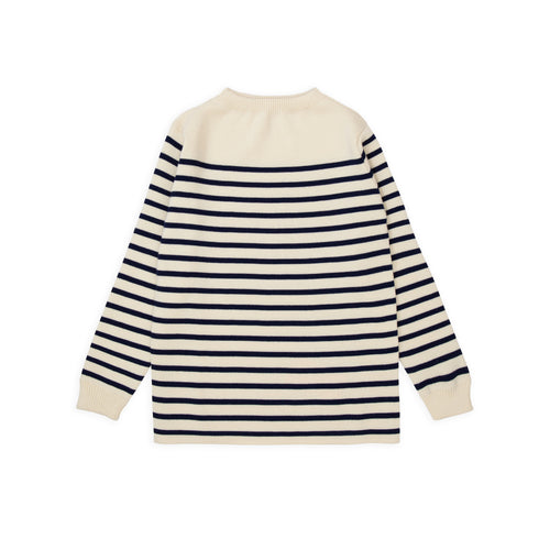 Marine Stripe - Off-White W/Royal Blue Stripe
