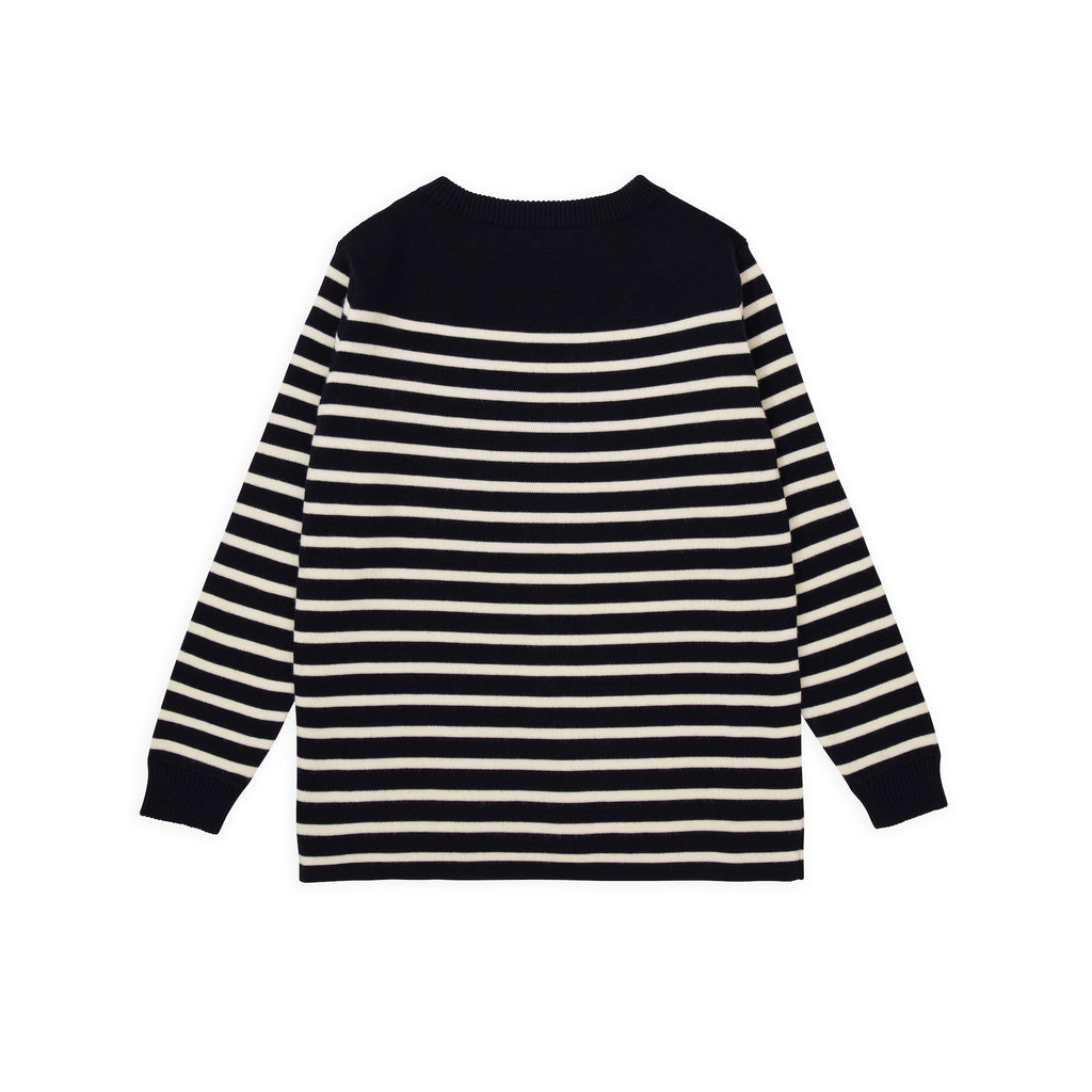 Marine Stripe - Navy Blue W/ Off-White Stripe