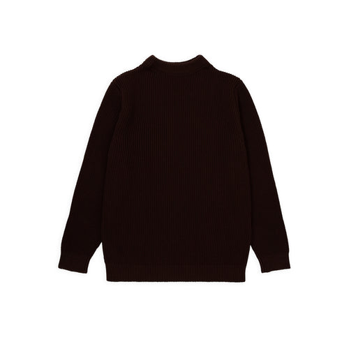 Cotton Crewneck - Brown