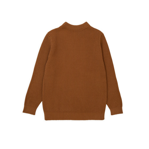 Cotton Crewneck - Dark Camel