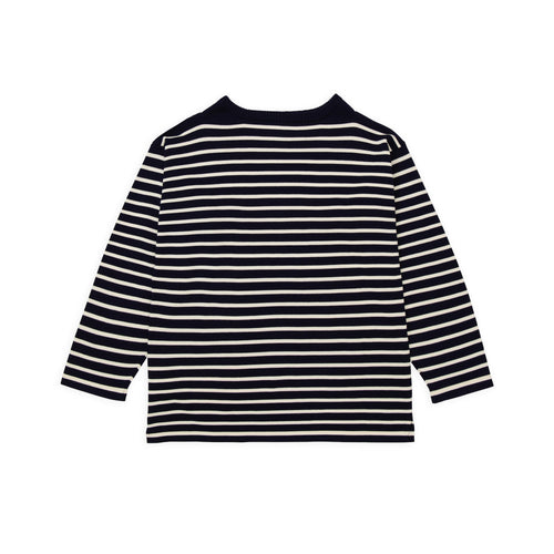 Boatsman - Navy Blue Gr./Off-White Str.