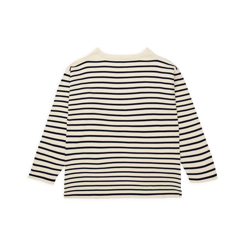 Boatsman - Off-White Gr./Navy Blue Str.