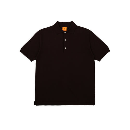 ANDERSEN-ANDERSEN Polo Short - Dark Brown