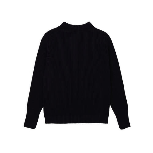 Cotton Crewneck - Navy Blue