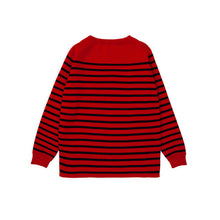 ANDERSEN-ANDERSEN Marine Stripe - Red ground Navy Blue stripe