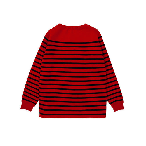 Marine Stripe - Red W/ Navy Blue Stripe
