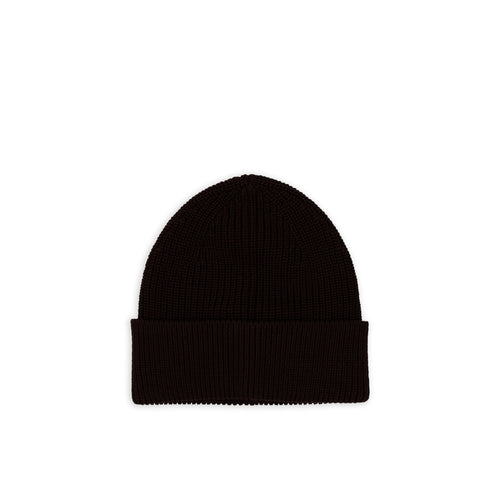 Cotton Beanie - Dark Brown
