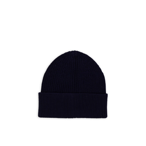 ANDERSEN-ANDERSEN Cotton Beanie - Navy Blue